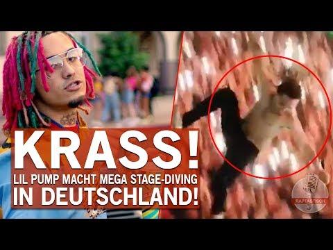 In Deutschland - Lil Pump springt METER TIEF von der Bühne!
