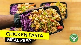 Chicken Pasta Low Carb Meal Prep / Pasta con Pollo y Salsa de Maní