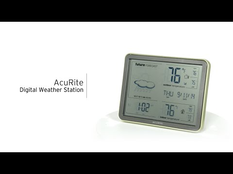 AcuRite 75077 / 75107 Digital Weather Station With Forecast, Temperature, Atomic Clock