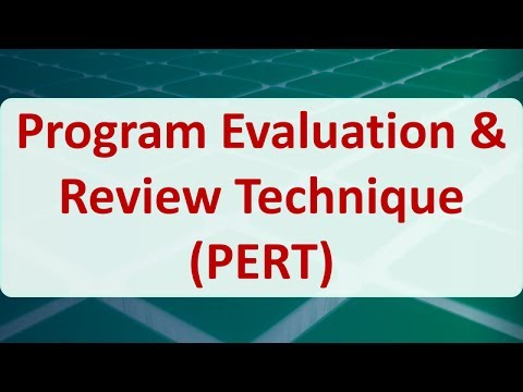 Operations Research 08J Program Evaluation  Review Technique PERT