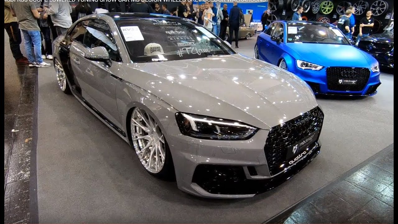 Audi Rs5 B9 Coupe Lowered Tuning Show Car Mb Design Wheels Grey