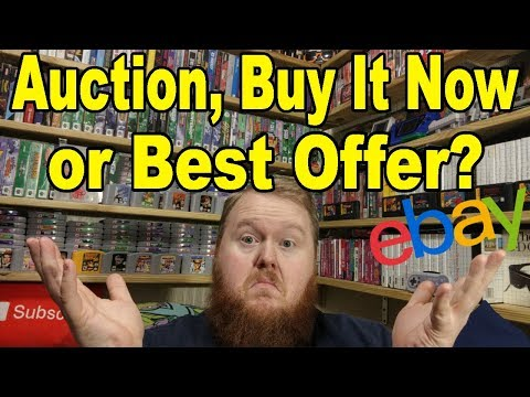 How to change my ebay auction to buy it now