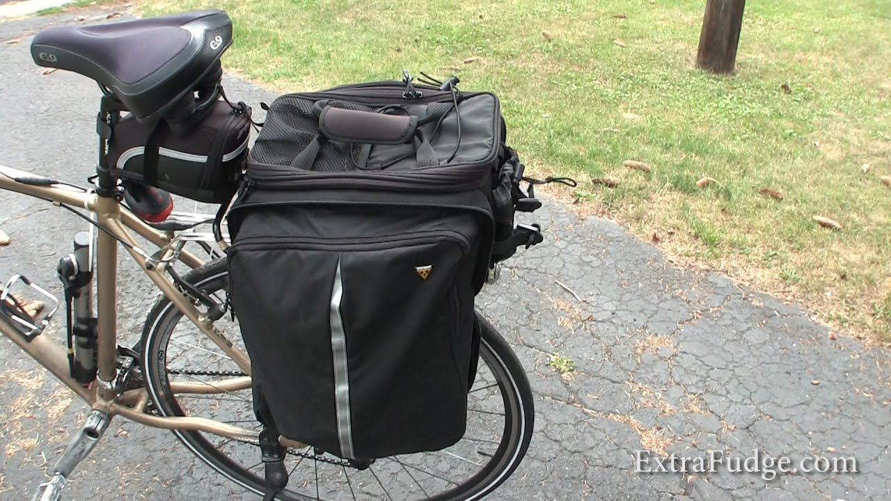 Topeak TT9647B MTX EXP Trunk Bag w// Folding Panniers Quick Track Bottle Holder