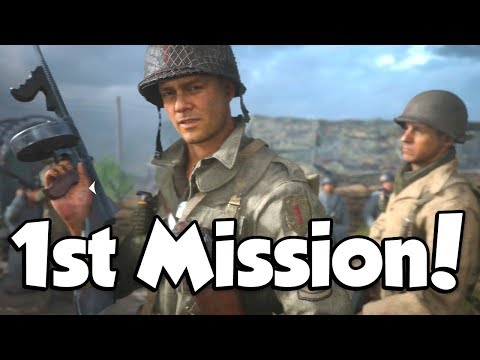THE FIRST MISSION! (Call of Duty WW2 Campaign #1)