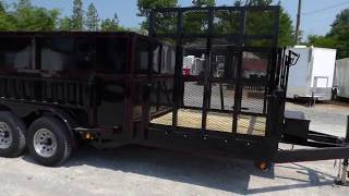 Hybrid Dump Trailer 7' x 16' With Debris Loader Trailer (Down)