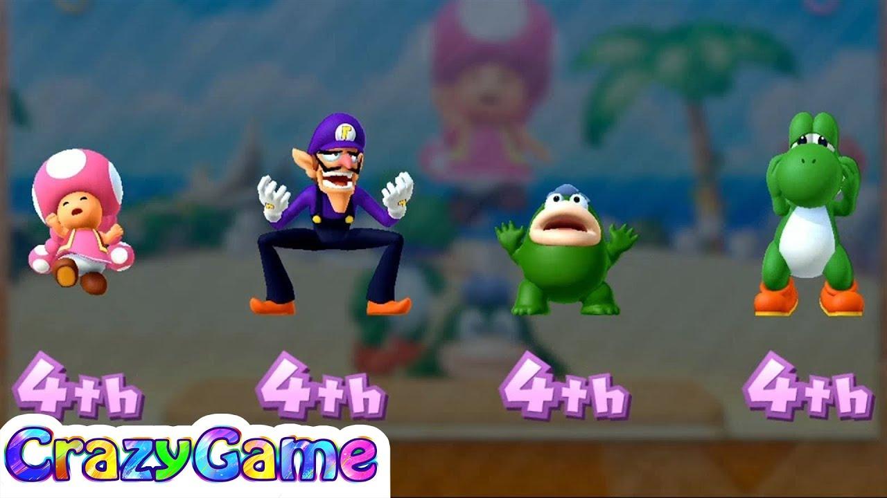 Mario Party 10 Coin Challenge - Toadette vs Waluigi vs ...