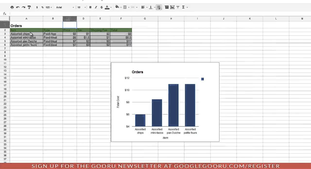 Hiding Rows and Columns in Google Spreadsheets (Updated 7/16/13)