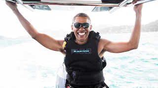 Richard Vs Barack(Challenged President Barack Obama to a kitesurf vs foilboard learning contest – here's what happened https://virg.in/ZWz., 2017-02-07T12:02:54.000Z)