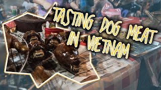TASTING DOG MEAT IN VIETNAM | AROUND THE WORLD TRIP