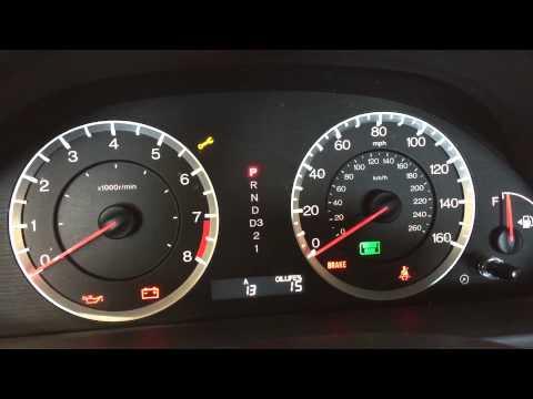 Reset Honda Accord Service Code A13, Oil Life Percentage ...