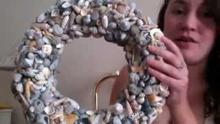 How to make a seashell wreath DIY Do it yourself