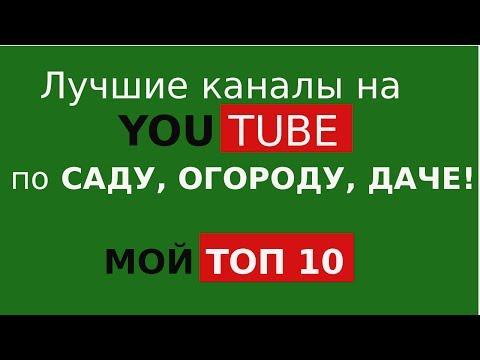Топ 10 каналов youtube про сад, огород, дачу