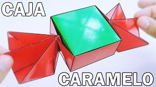 Caja CARAMELO de Papel - Origami Halloween