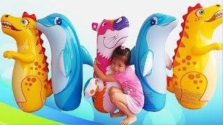 Kids Pretend Play, Van and Nam Funny Pretend Play Video for Children, BaBiBum