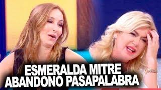 ¡Esmeralda Mitre discutió con Analía Franchín y se fue de Pasapalabra!