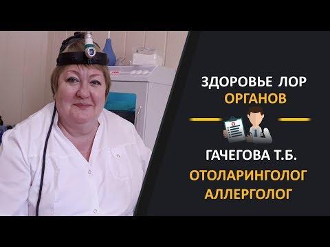 Здоровье ЛОР органов. Врач ЛОР, аллерголог  Гачегова Татьяна Борисовна
