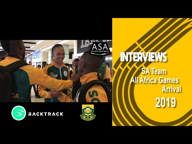 Team SA African Games Return