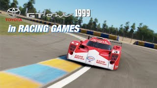 Toyota GT-One Race Car 1999 in Racing Games