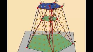 Правильная усечённая пирамида. Найдите длину периметра многоугольника