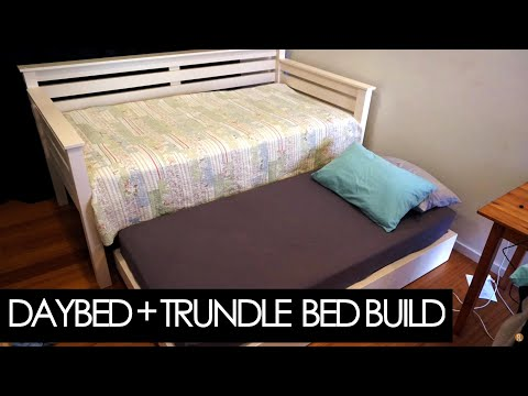 How To Make A Day Bed And Trundle Using Structural Lumber | Woodworking