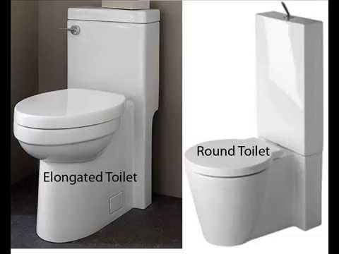 American Standard Toilet Seats >> Elongated vs Round Toilet - YouTube