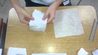 Paper Folding Experiment Pre-Calculus