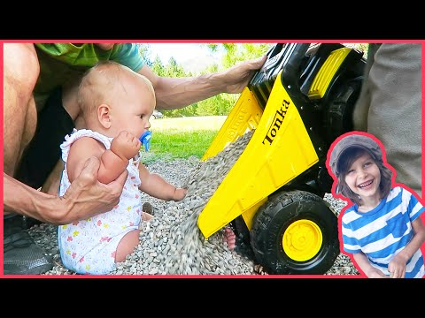 Toy Dump Truck Buries Baby Sister