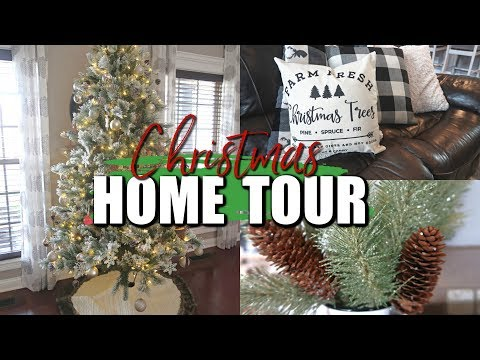 CHRISTMAS HOME TOUR 2018- FARMHOUSE DECOR- DECORATING ON A BUDGET-