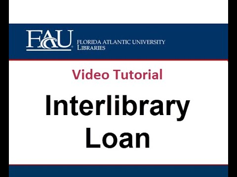 Interlibrary Loan Tutorial