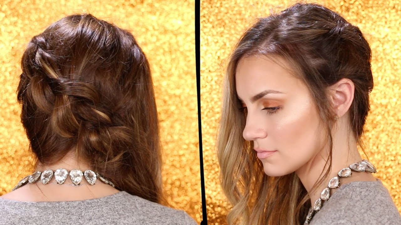 Side Braid with Romantic Soft Loose Curls | Date Night ...