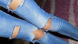 Как сделать рваные джинсы своими руками. DIY: ripped jeans(В этом видео я покажу как сделать рваные джинсы своими руками. DIY: ripped jeans., 2015-08-23T19:54:03.000Z)
