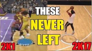 2K Animations THAT NEVER LEFT THE GAME (NBA 2K1 Vs 2K17)