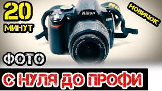Обучение за 20 минут фотографируем в ручном режиме / бюджетная камера / Настройка фотоаппарата