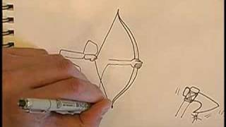 How to Draw Medieval Weapons for RPG Games : How to Draw a Medieval Weapons: Bow & Arrow