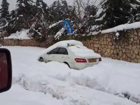 snow in jerusalem 14.13.12