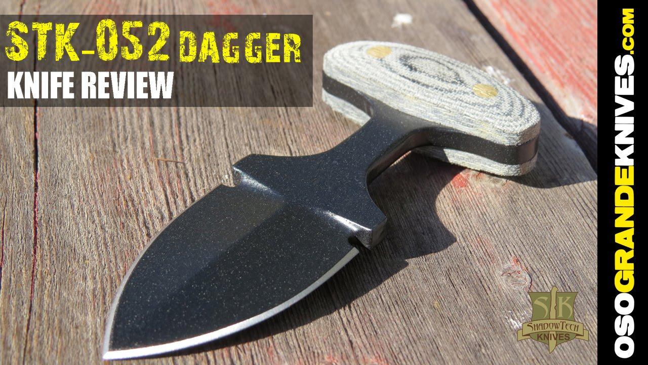shadow tech knives 2 inch push dagger knife review osograndeknives youtube. Black Bedroom Furniture Sets. Home Design Ideas