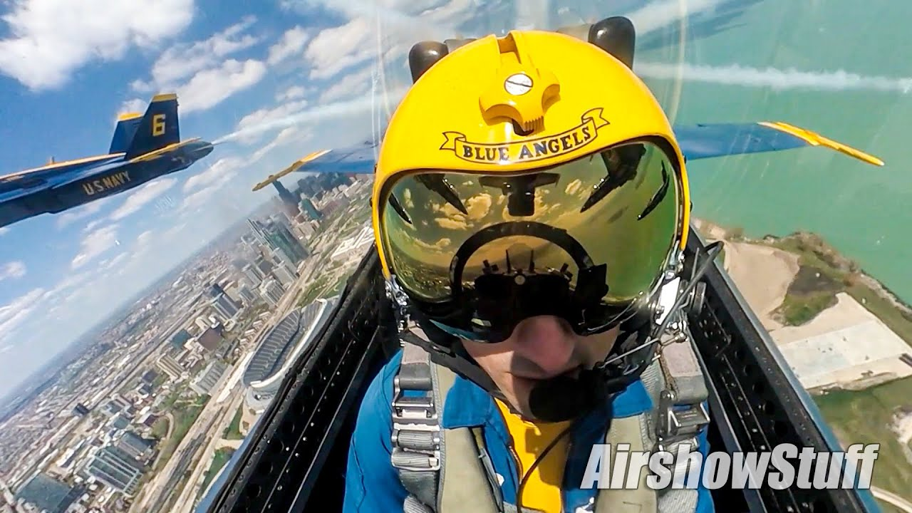 Rewatch the Blue Angels' Full Chicago Flyover