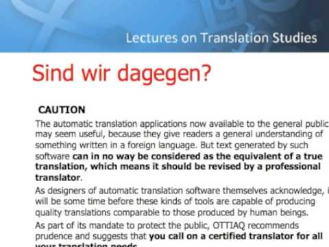 Are translation technologies helpful?