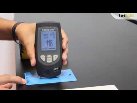 Como funciona un PosiTector Medidor de espesor