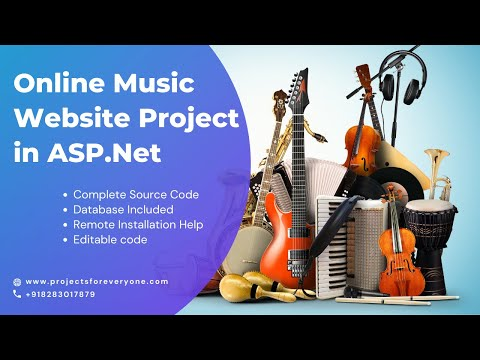 Online Music Website Project - ASP.Net with C#.Net and Sql Server image