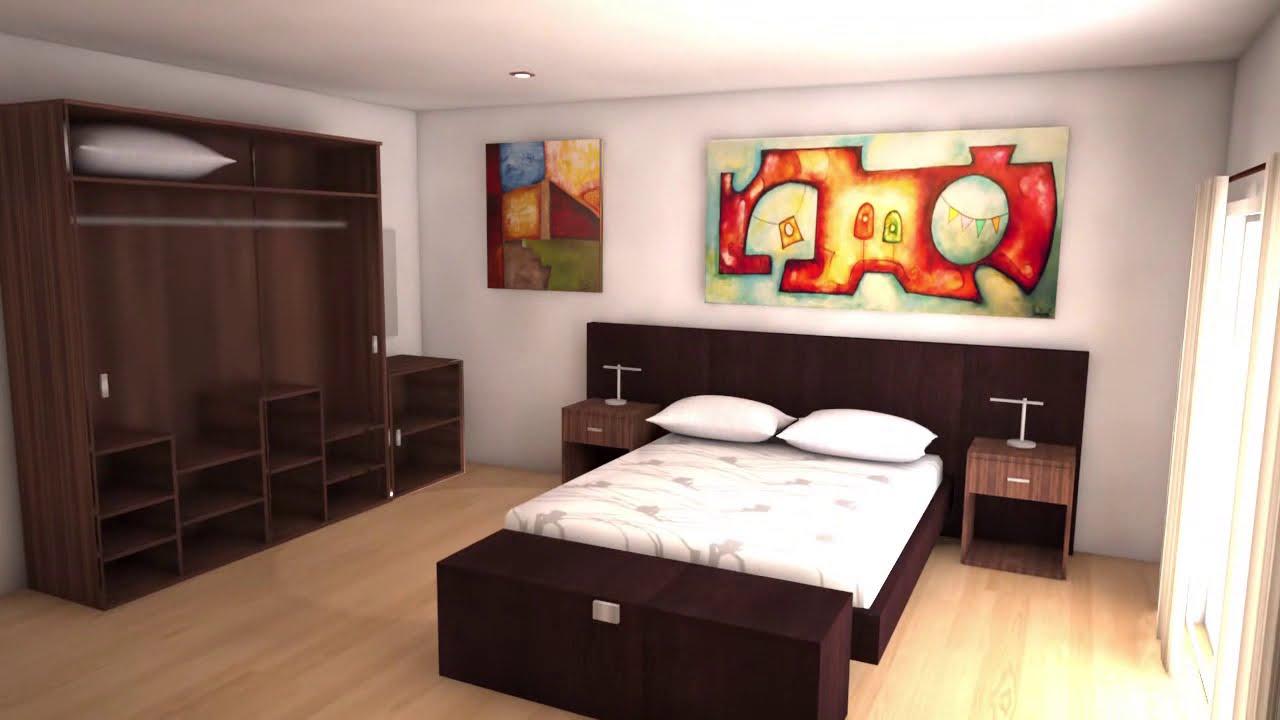 dise o 3d habitaci n hotel 3d max youtube