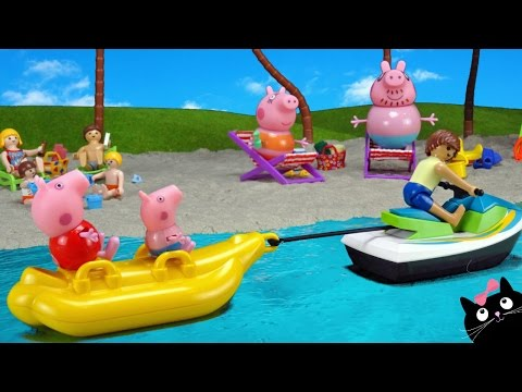 Peppa Pig en la Playa - Vídeos de Juguetes de Peppa Pig en Español
