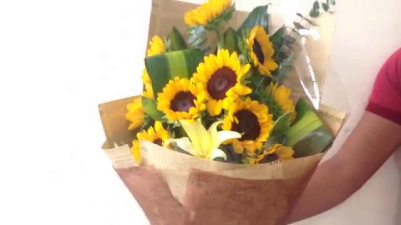 Bó hoa hướng dương, Dienhoa24gio.com - YouTube