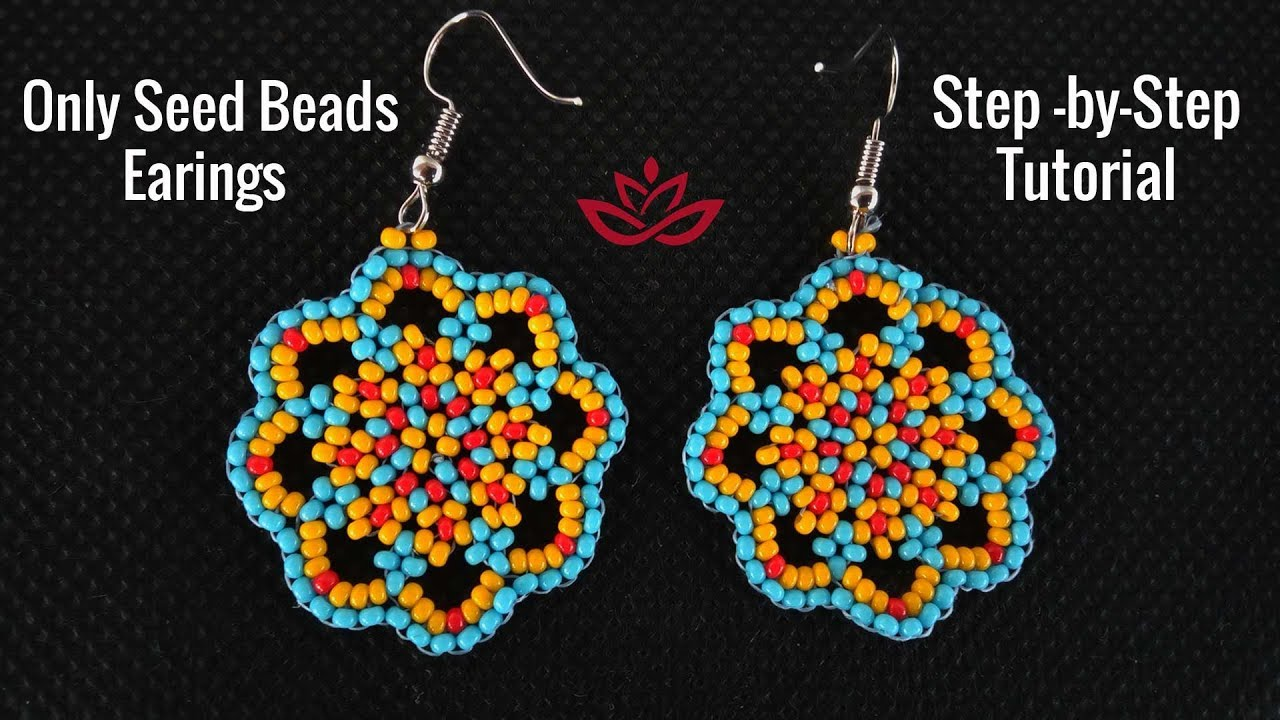 Only Seed Beads Earrings - Tutorial