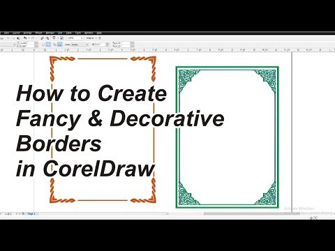 how to create fancy and decorative borders in coreldraw x7 (2018)