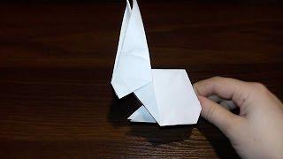 Оригами бумажный заяц, кролик своими руками