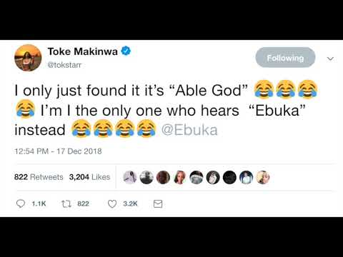 Toke Makinwa Loves Ebuka? And The 'Able God' Tweet