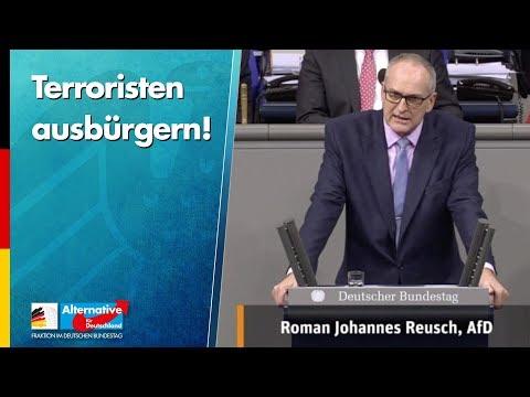 Terroristen ausbürgern! - Roman Reusch - AfD-Fraktion Bundestag