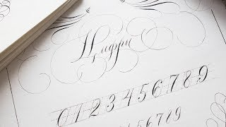 Уроки Каллиграфии | Красивое каллиграфическое написание цифр: секреты мастерства