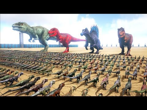 1000 Dilos VS ARK Dinosaurs   Cantex
